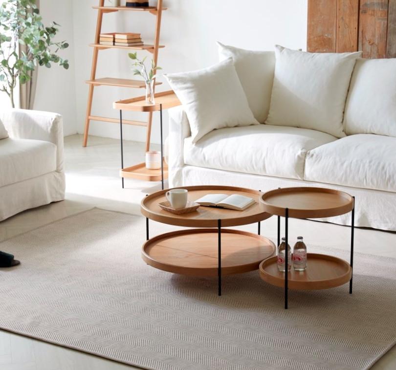 sloopy sofa, humla table & tosta shelf
