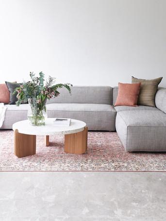 baker sofa & native table