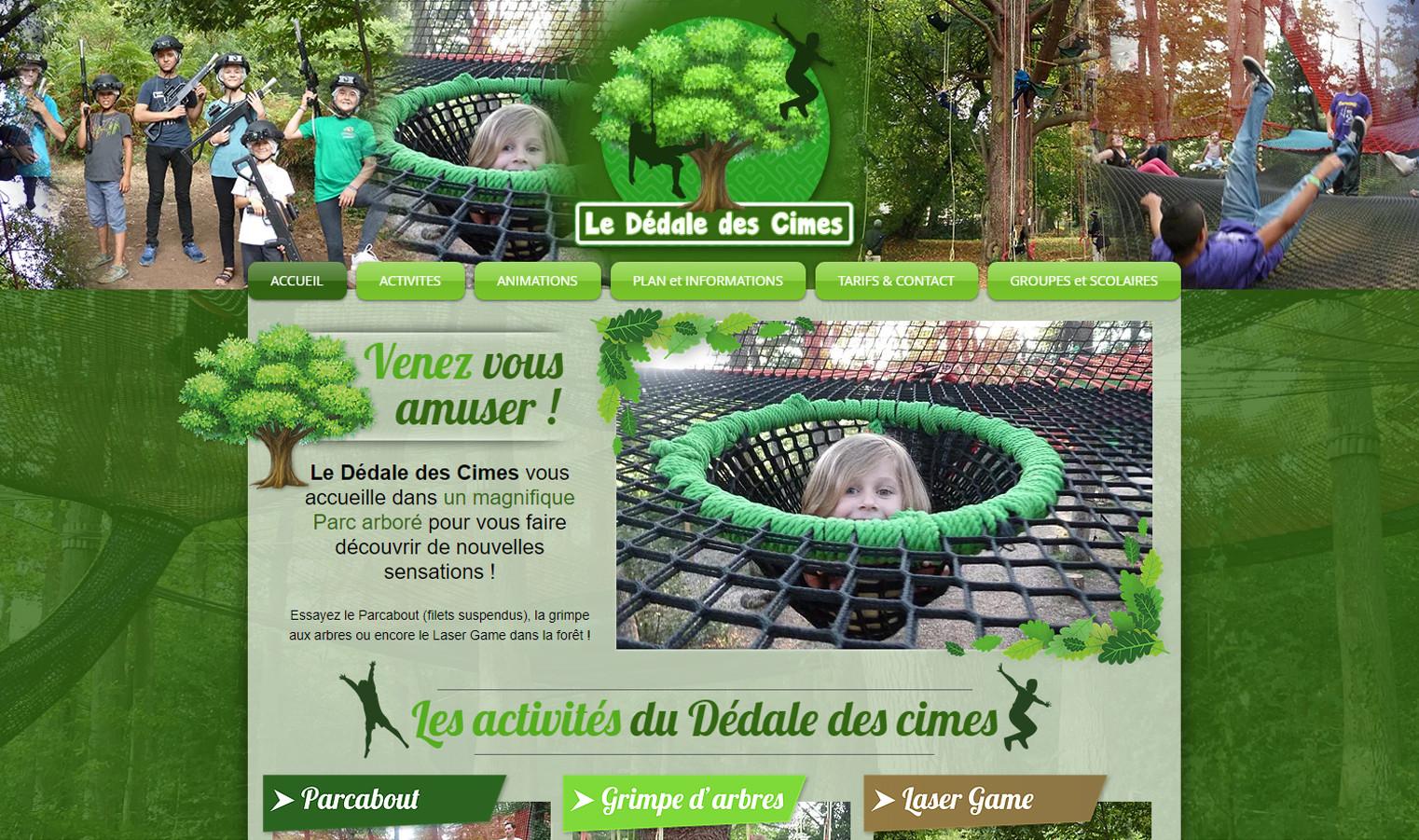 Site Internet Dédale des cimes