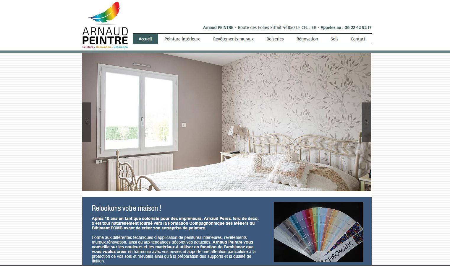 Site internet Arnaud Peintre
