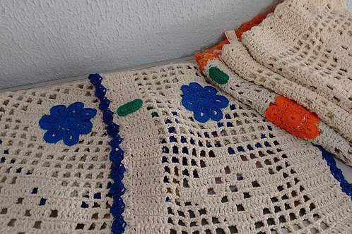 Tapete Croche Com flor Retangular