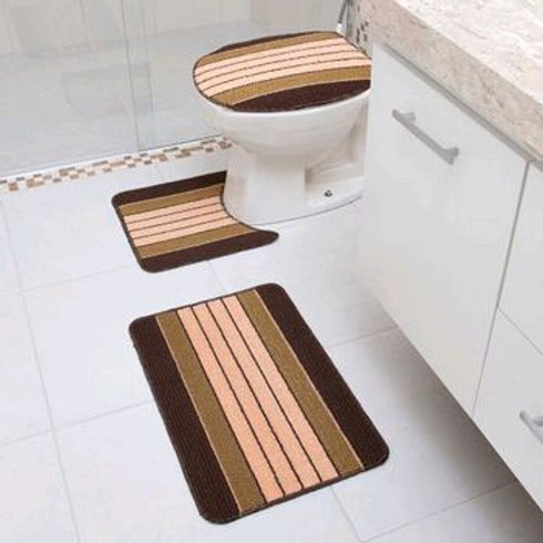 Jogo para Banheiro 3 Pç Enrrugado