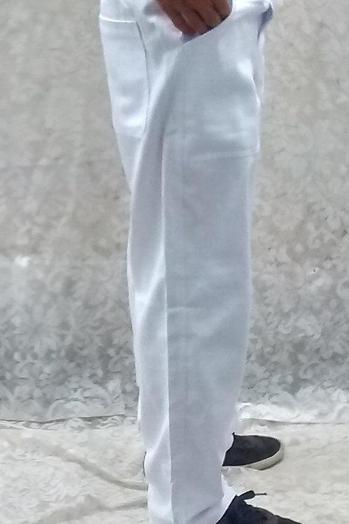 Calça Branca Tergal