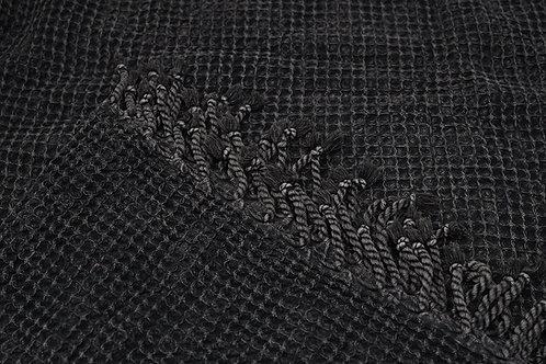 Mahir Matriks - Baumwolldecke im Waffeldesign anthrazit