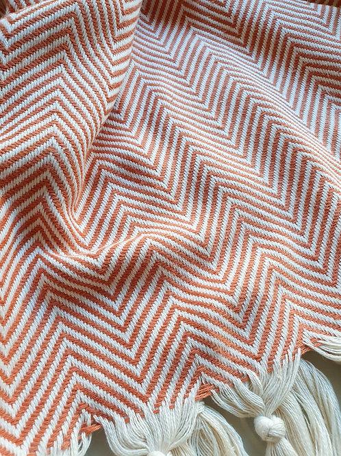 Müster Murat - Baumwolldecke im schicken gemusterten Design rot