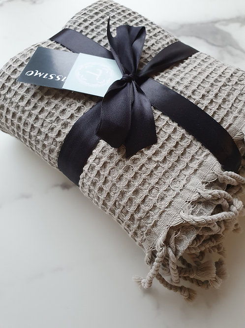 Şenay Şık Turkish Towel beige-grau