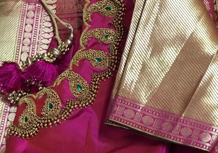 HW Pink and gold bead and zardosi.jpeg