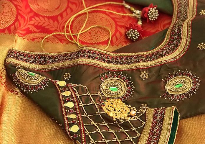 HW Green Lakshmi pendant work.jpeg