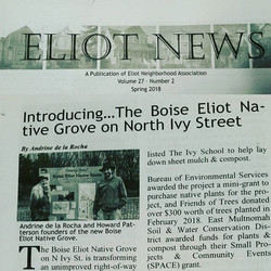 Thank you Eliot News for publishing a nice article about the _boiseeliotnativegrove !