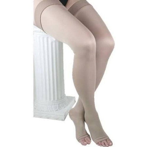 ITA-MED Style H-306(O) Unisex Microfiber Thigh Highs Open Toe