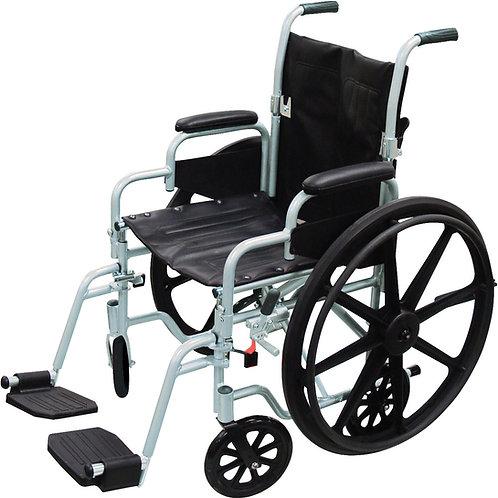 Lightweight Wheelchair + Transport Chair Combo