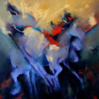 Equis in Blue 24H X 18W