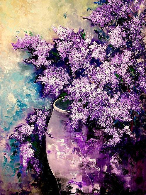 Lilac Plethora 40H X 30W
