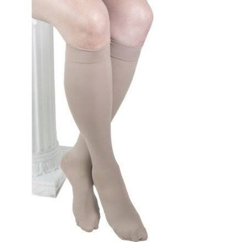 ITA-MED Style H-304 Microfiber Unisex Knee Highs Closed Toe