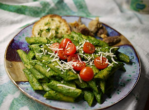 Pasta with Kale Sauce.JPG