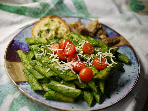 Pasta with Kale Sauce