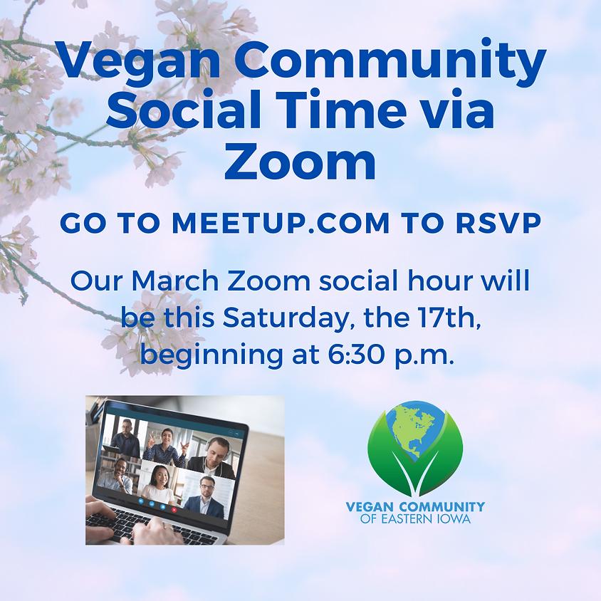 Veg Community Social Time via Zoom