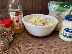 Vegan Sweet and Tangy Coleslaw