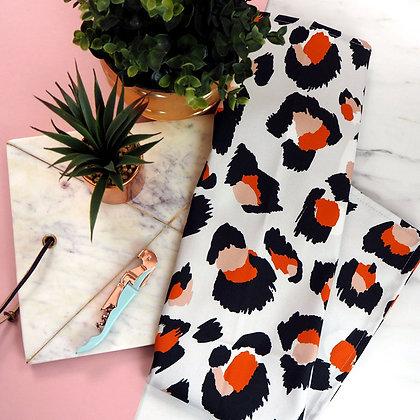 Orange Leopard Tea Towel