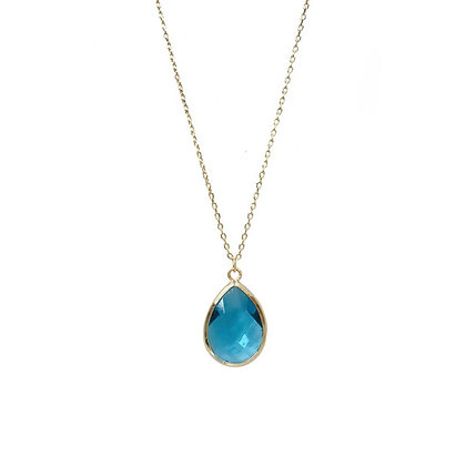Teardrop Necklace - Turquoise