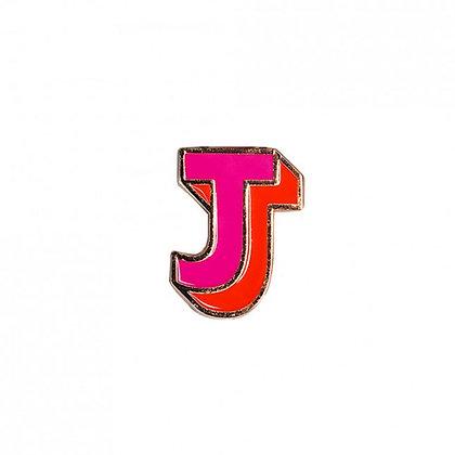 Enamel Pin - Letter J