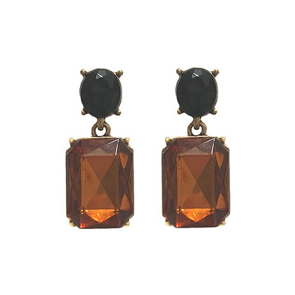 Crystal Drop Earrings - Leopard
