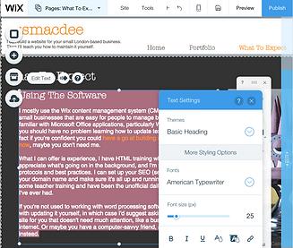 Wix Editor screenshot
