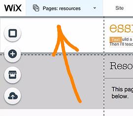 Wix pages menu