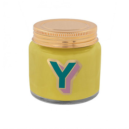 Mini Jar Candle - Letter Y