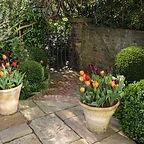 long narrow garden design