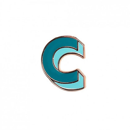 Enamel Pin - Letter C