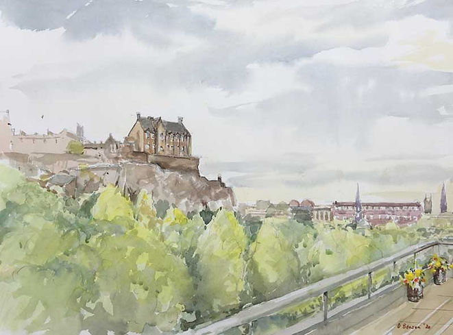 Edinburgh Castle from The New Club