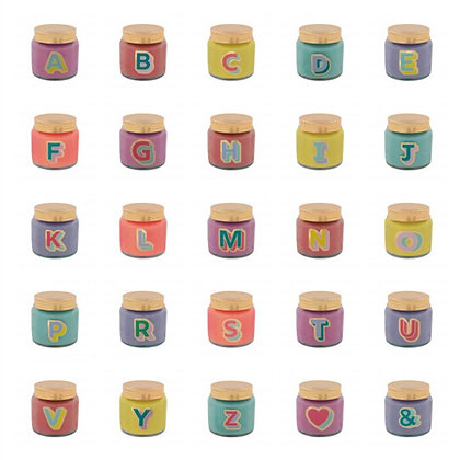 Letterpop Fragranced Mini Jar Candles - A to L