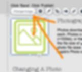 Wix 'Change Image' button