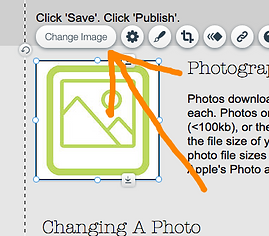 Wix 'Change Image' button