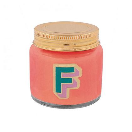 Mini Jar Candle - Letter F