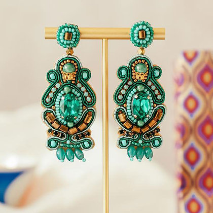 Gatsby Earrings - Green