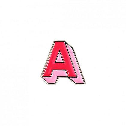 Enamel Pin - Letter A