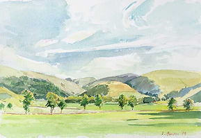 Hills at the Foot of Manor Valley, Peeblesshire