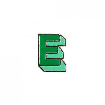 Enamel Pin - Letter E