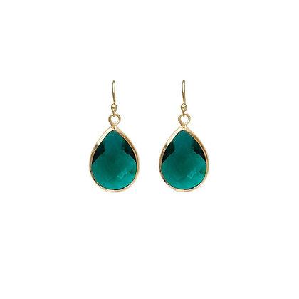 Teardrop Earrings - Emerald Green