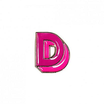 Enamel Pin - Letter D