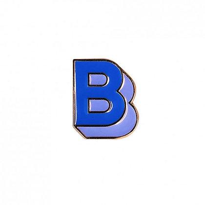 Enamel Pin - Letter B