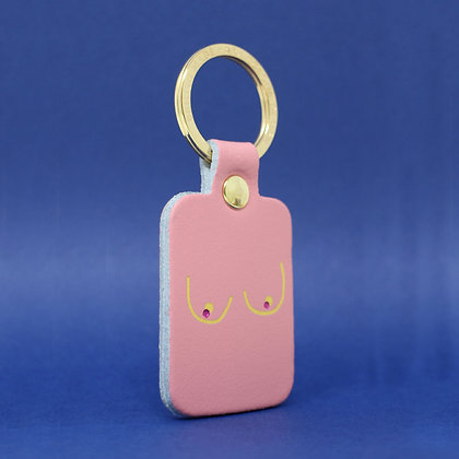 Boobs Key Fob - Pale Pink