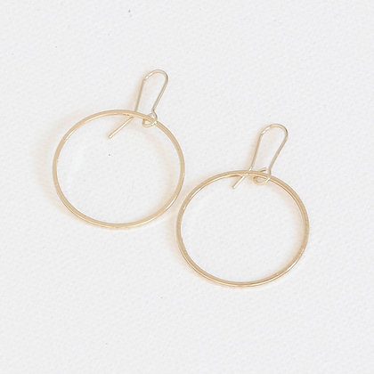 Gold Dangle Hoops