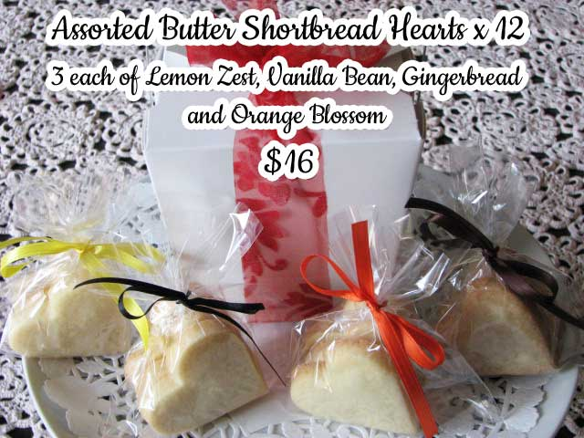 Butter Shortbread Hearts - $16