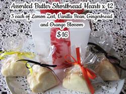 Butter Shortbread Hearts - $16