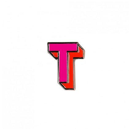Enamel Pin - Letter T