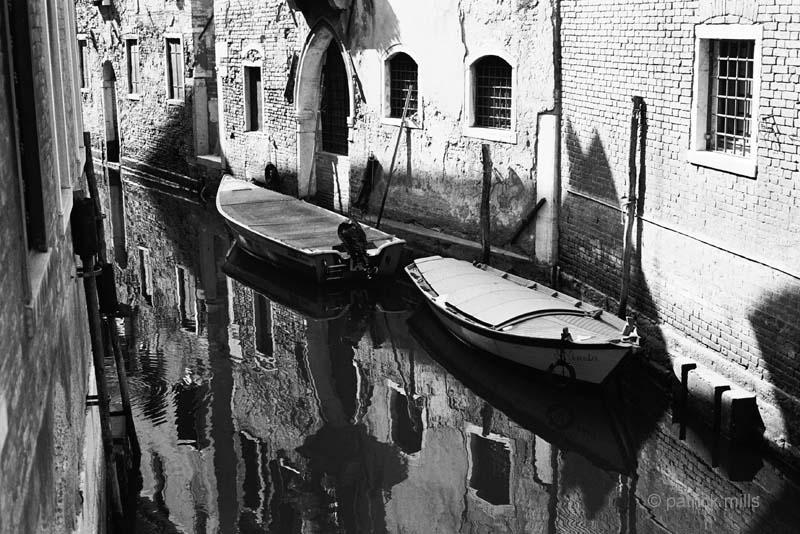 venice parked boats