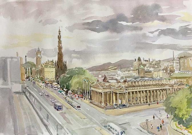 Princes St., Edinburgh, in Lockdown